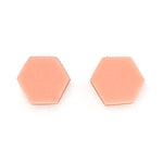 Hexagon resin stud