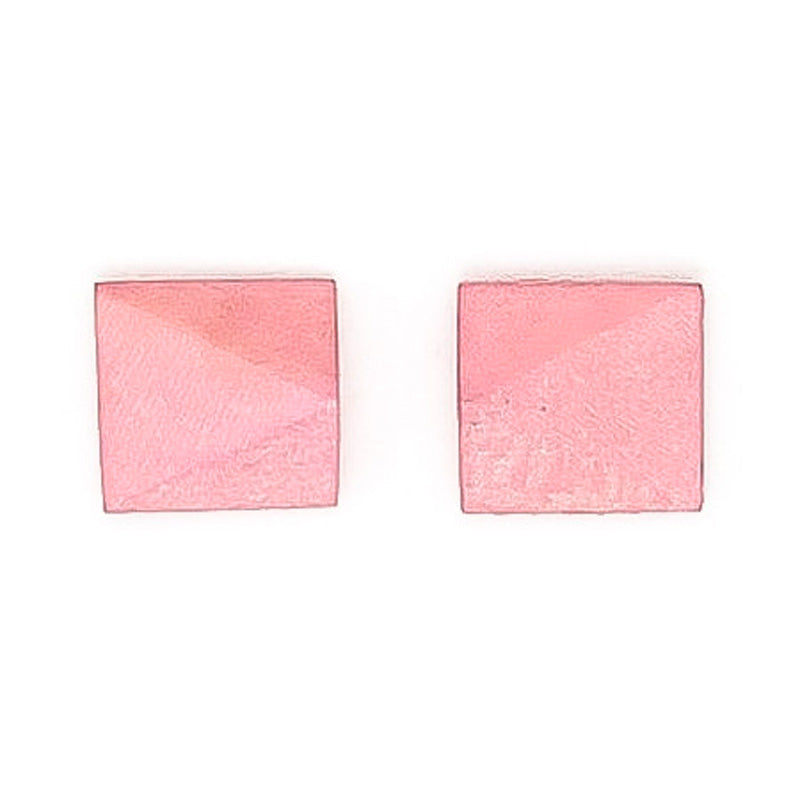 Faceted Square stud