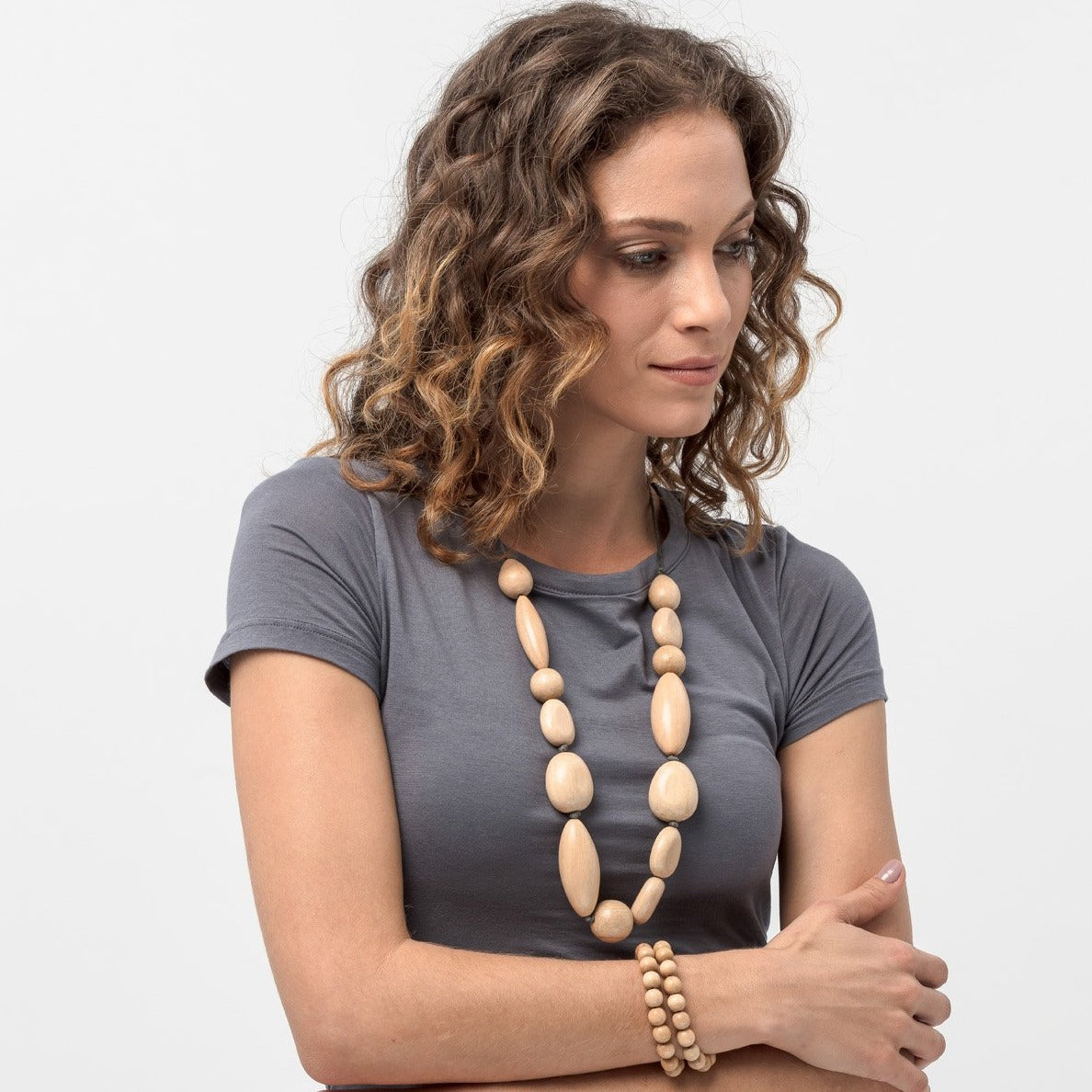 Organic drops necklace
