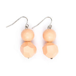 Ball and Facet drop earring