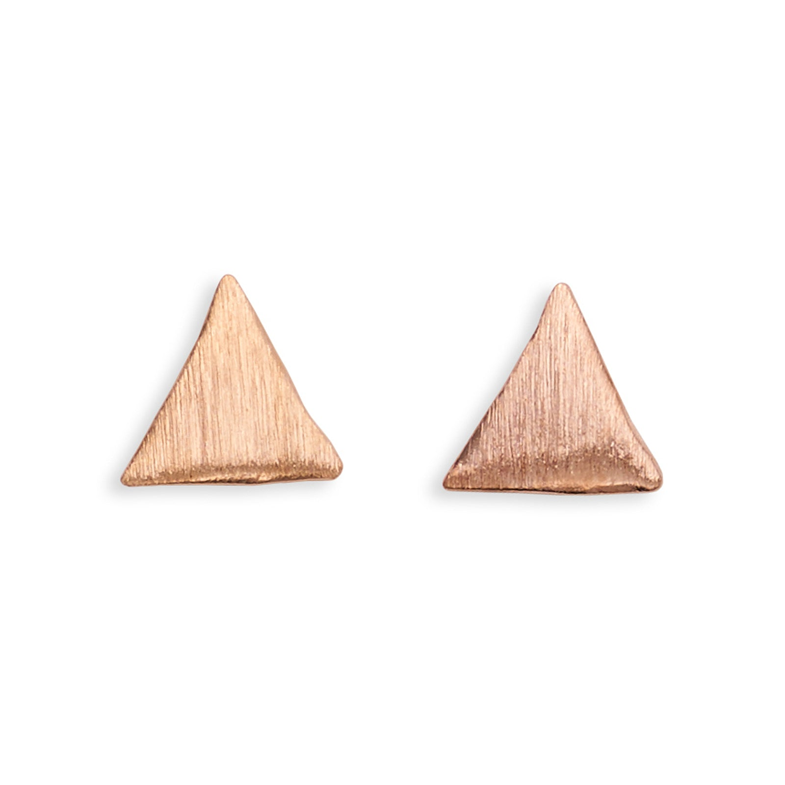 Triangle brushed metal stud