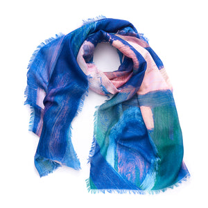 Painted Circle Light scarf