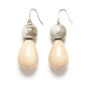 Teardrop ceramic drop earring