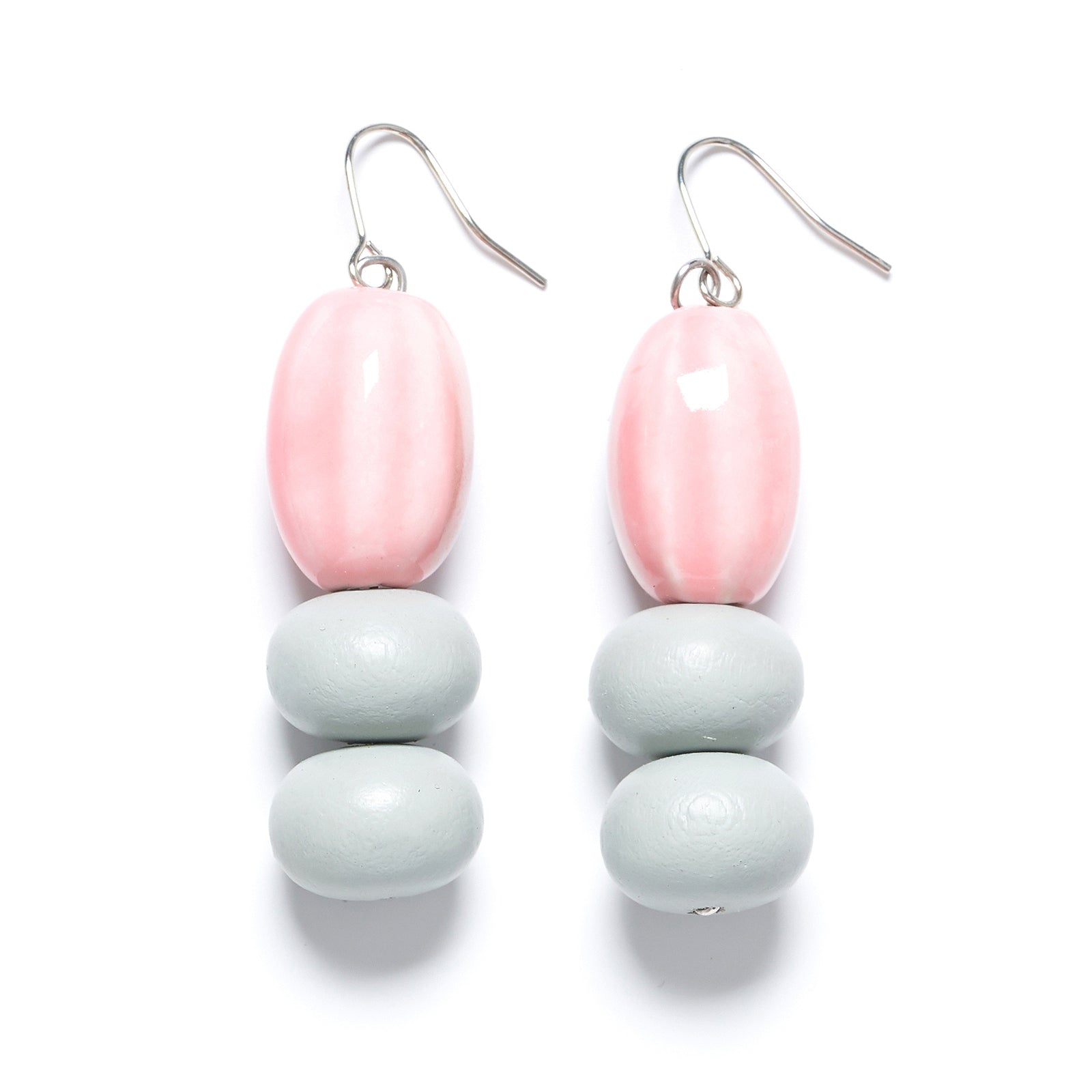 Triple Drop ceramic earring
