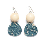 Marbled teardrop earring