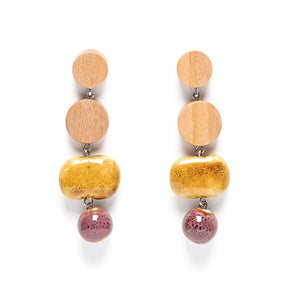 Dot Dot Double Ceramic Drop earring