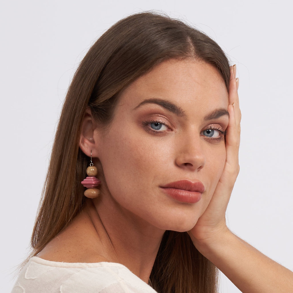 Saucer Triple Drop earring