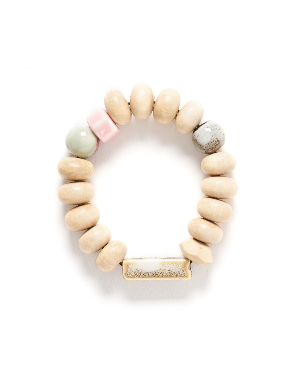 Mentos bracelet with ceramic tube bead