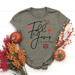 Fall For Jesus Adult Tee