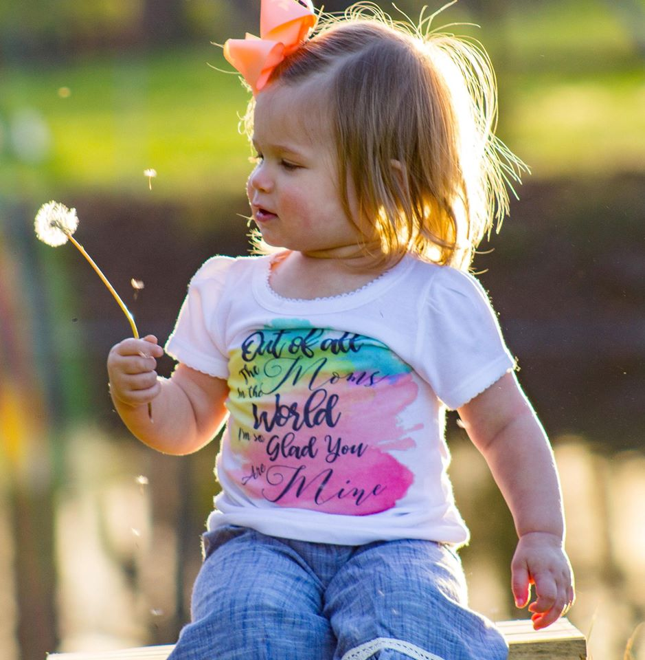 Kids Mothers Day WHITE Girly Tee