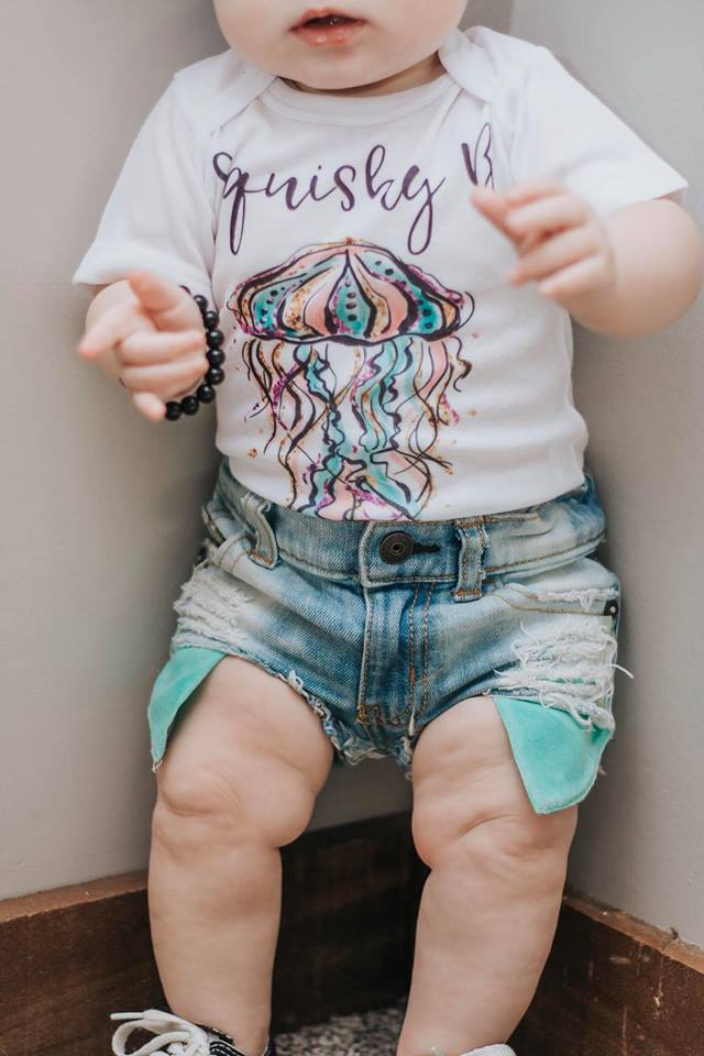 Mermaid/Sea Life Baby Onesie