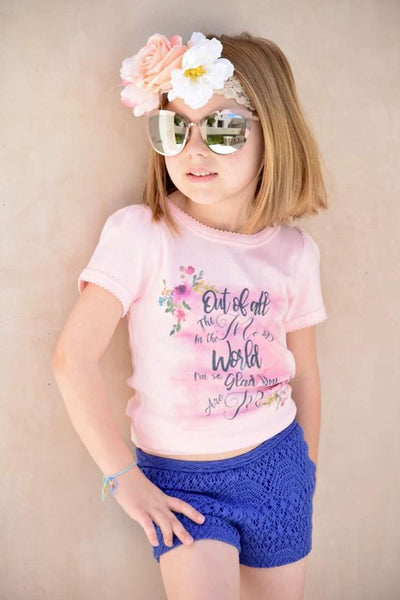 Kids Mothers Day PINK Girly Tee