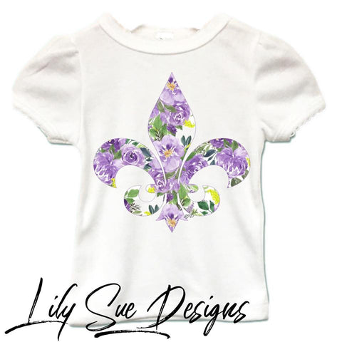 Mardi Gras Girly Tee