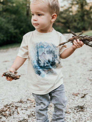 Nature Little Explorer Oatmeal Tee