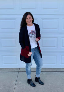 Ladies Finley [color block] Cardigan