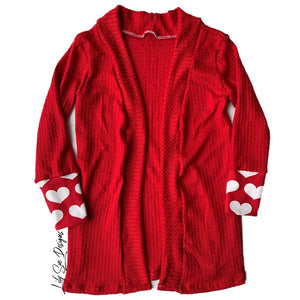 Red Hearts Finley Cardigan
