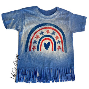 4th of July Bleached out Adult Tee