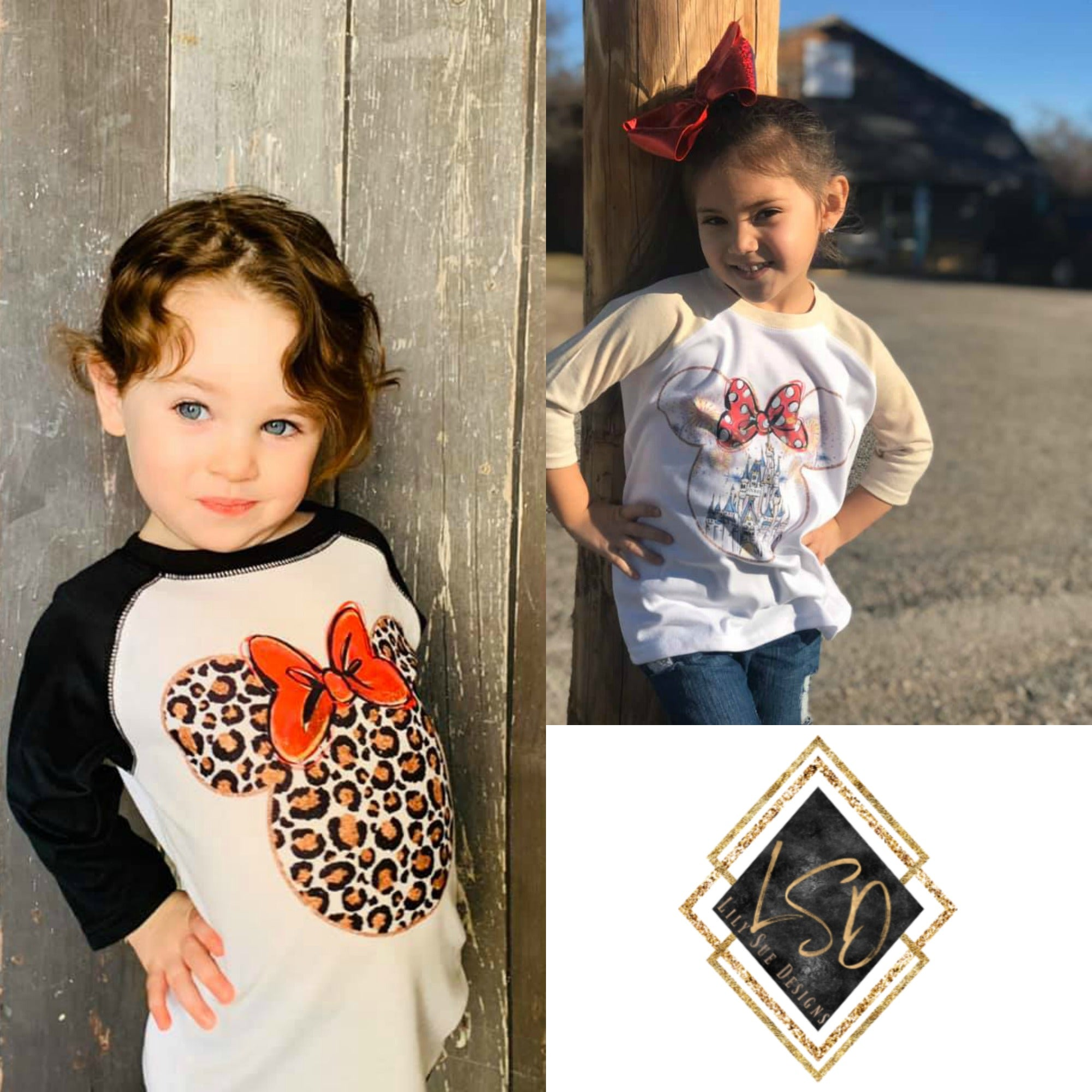 Reg. Minnie Designs Raglan