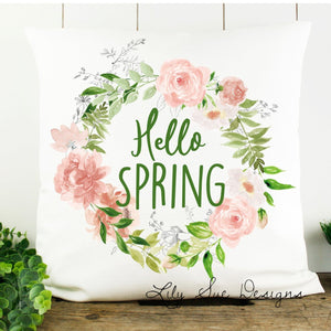 White Spring Pillow Cover