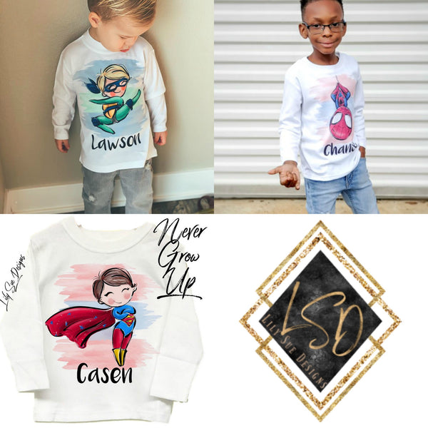 Superheroes boys Long Sleeve Tees