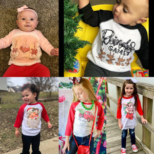 Christmas 2019 Kids Raglan tees