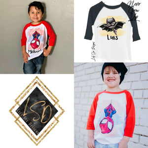 Superheroes boys Raglan