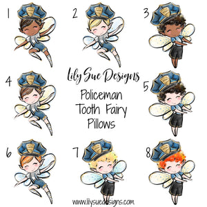 Policeman Tooth Fairy Pillow
