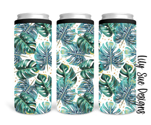 Palm Leaves Skinny Can Cooler