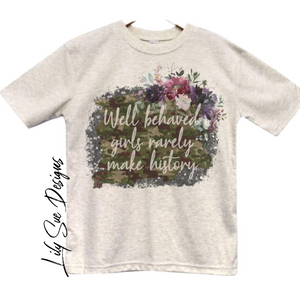 Girls Army Oatmeal Tee