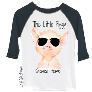 Little Piggy Kid Raglan