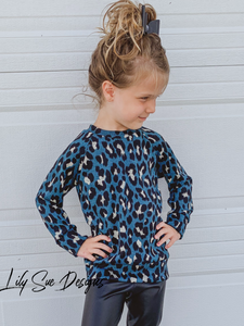 Teal Leopard Sweater