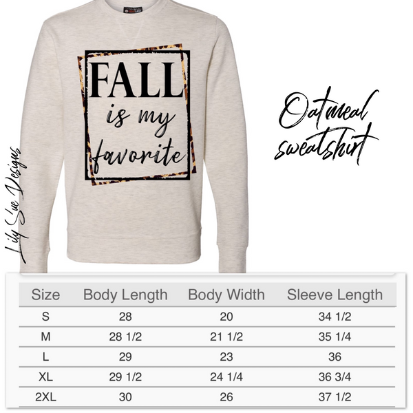 Adult Fall Sweatshirt