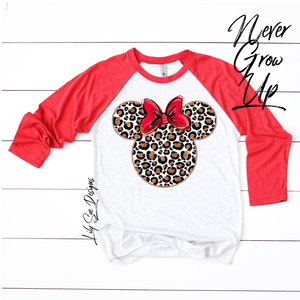 Reg Minnie Adult Raglan
