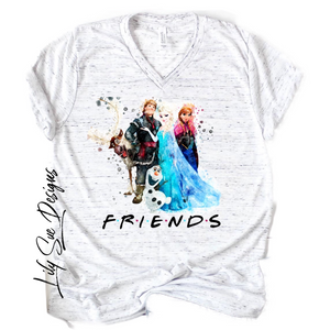 Adult Let's get Frozen Tee