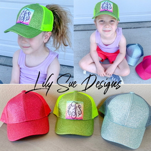 Kids Glitter Pony Tail Hat