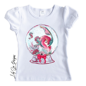 Christmas Mermaids Short Sleeve Tees