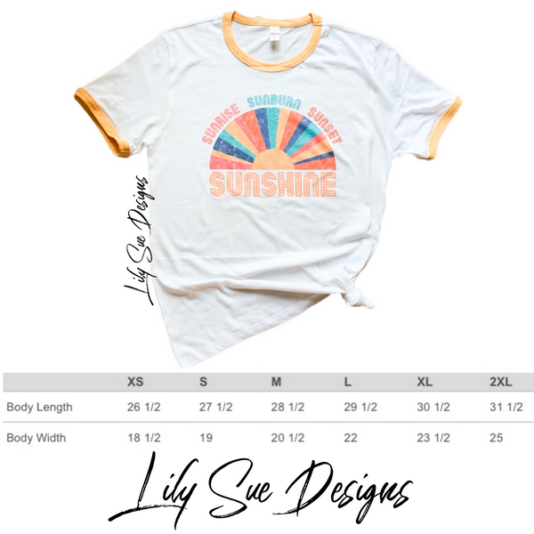 Sunshine Retro Adult tee