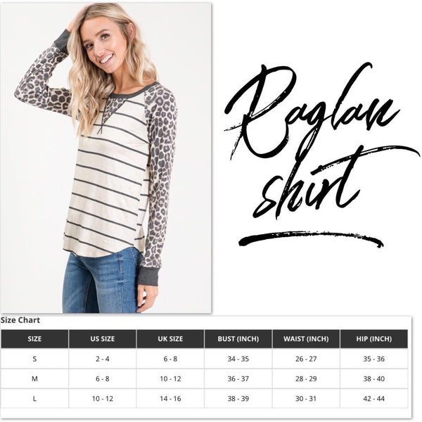 STRIPE LONG SLEEVE RAGLAN TOP