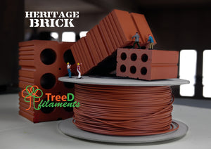 Heritage Brick Filament-0.75 KG-1.75mm - TreeD Filaments North America