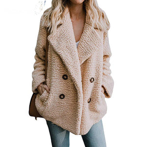 Fleece double breasted jacket