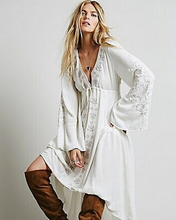 Statement Embroidered Cotton Tunic Styled Dress