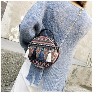 Cross Body Tassel Tote Messenger