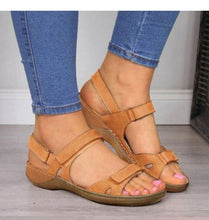 Soft Sandals Three Color Stitching with Open Toe Styling