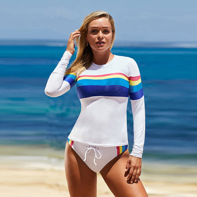 Two-Piece Long Sleeved Swimsuit, Perfect for Swim Surf Sesh
