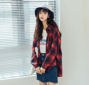 Single Breast Plaid Jacket