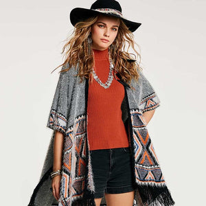 Autumn Patchwork Cape