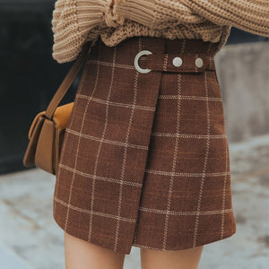 Signature 2019 Collection Preppy Vintage High Waist Plaid Skirt *Caravan Maya Exclusive