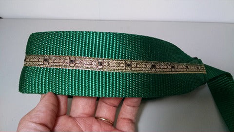 "16""x2"" Green Sight Hound Collar w/ Leash"