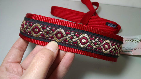 "19""x1.5"" Red Lure Coursing Collar"