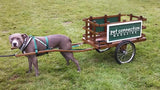 Dog pulling a Wood Cart